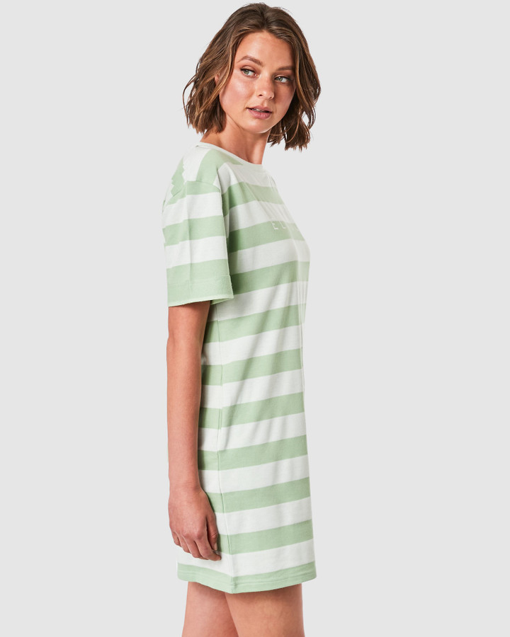 Elwood Monica Dress Mint Stripe