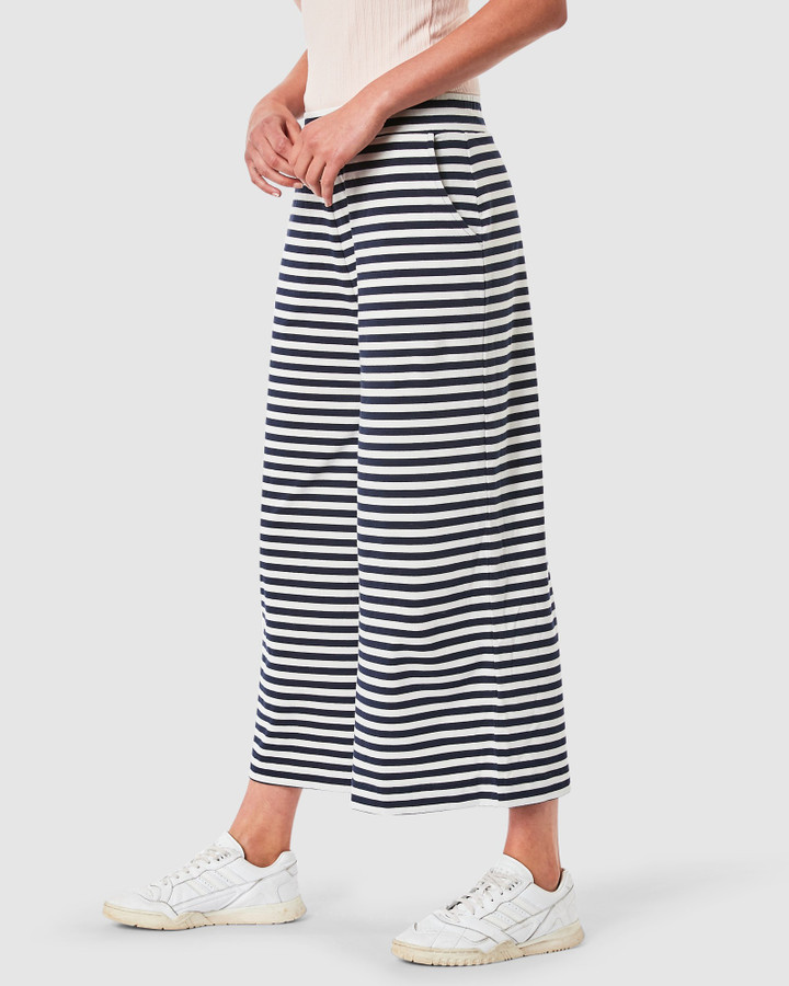 Elwood Tess Pants Navy/White Stripe