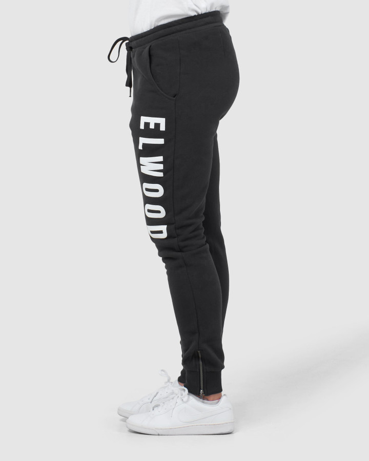Elwood Huff N Puff Track Pants Black/White