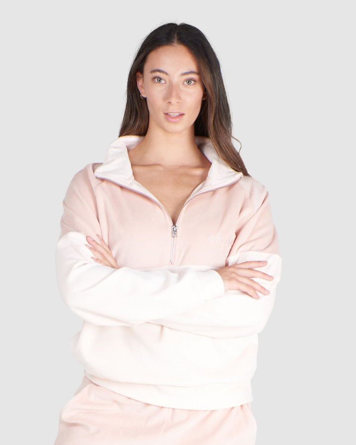Elwood Angie Zip Top Pale Pink