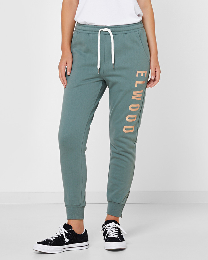 Elwood Huff N Puff Trackpants Hunter Green