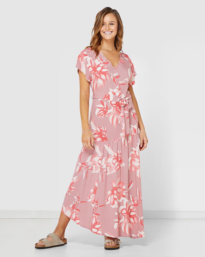 Elwood Holly Midi Dress  Pink Floral