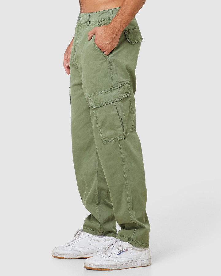 Elwood Andy Cargo Pants Army Green