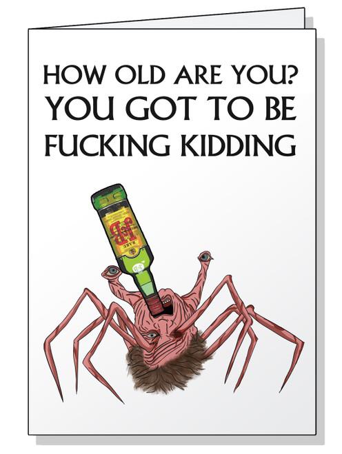 Head Spider Birthday Card
