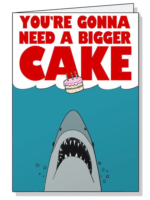 Jaws Birthday Card