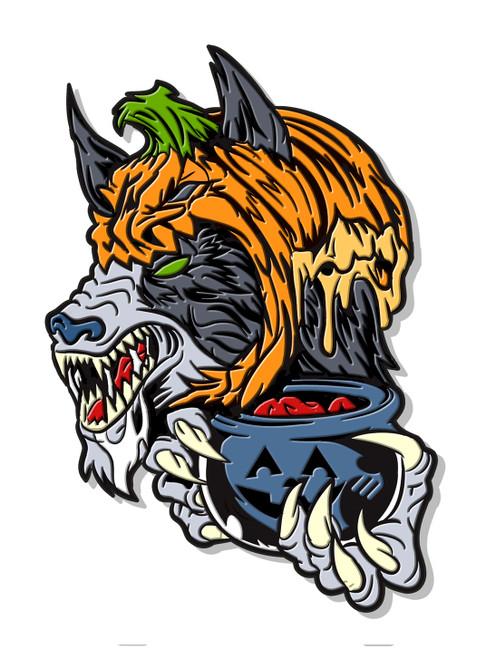 Trick or Treat  Werewolf Enamel Pin