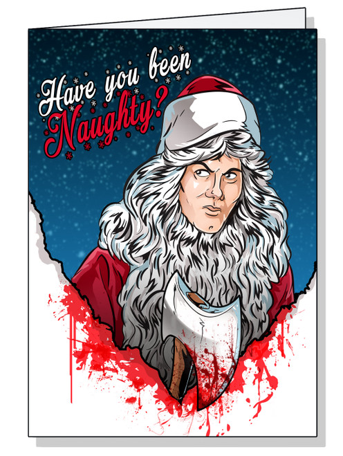 Silent Night Deadly Night Christmas Card