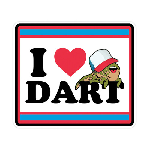 I Love Dart Sticker