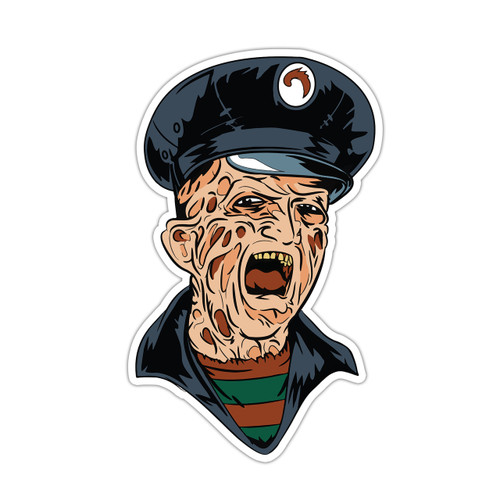 Bus Driver Freddy Vinyl Sticker
