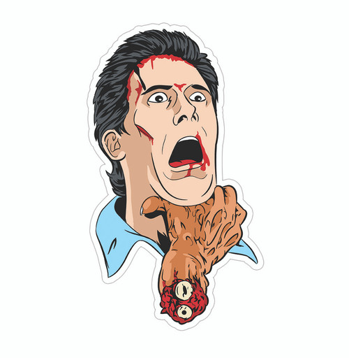 Ash vs Evil Hand Sticker