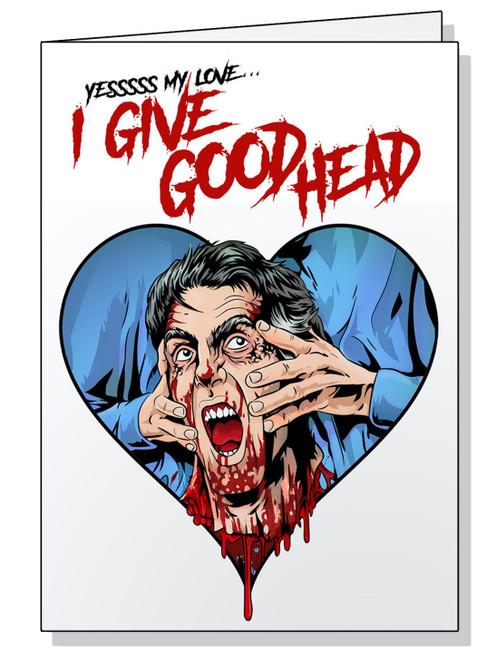 I Give Good Head  Valentine's Card