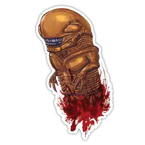 Chestburster Vinyl Sticker