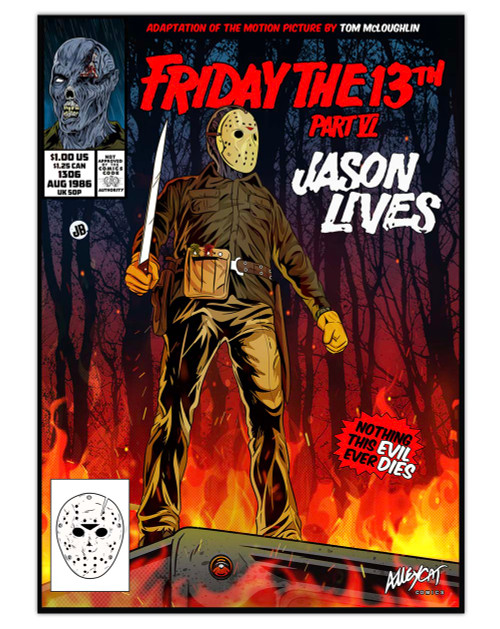 Jason Lives Comic Cover Print