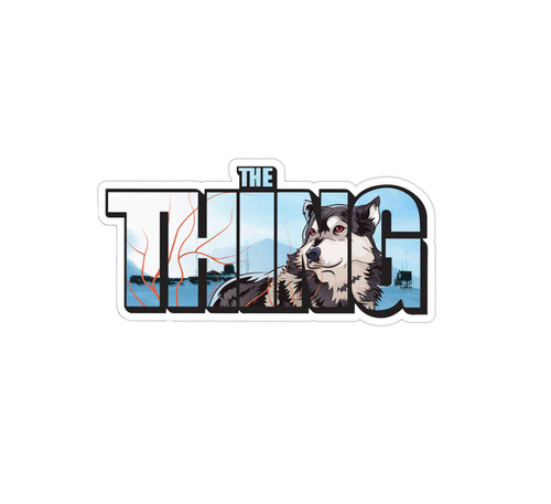 The Thing Husky Sticker