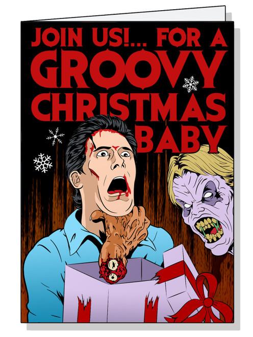 Evil Dead Christmas Card