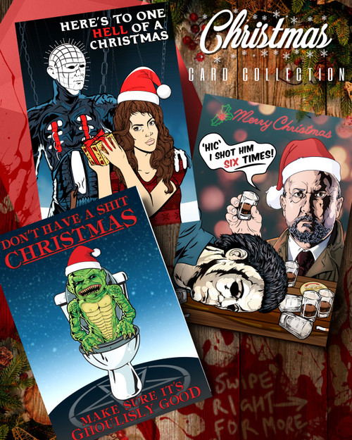 Bundle of 6 Horror Christmas Cards