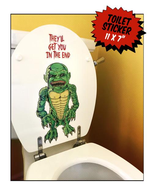 Toilet Goblin Sticker