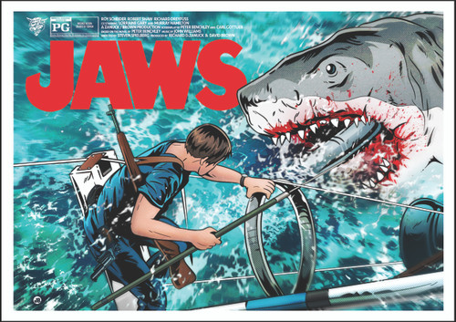 Jaws Poster Print