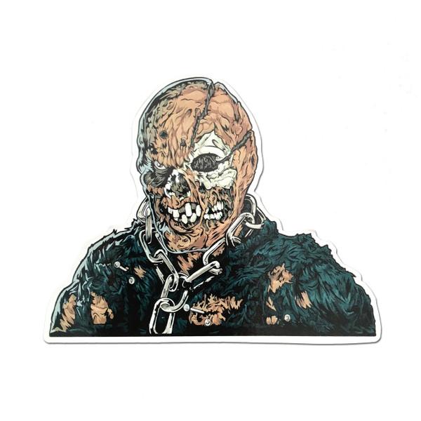 Jason Voorhees Unmasked Fridge Magnet