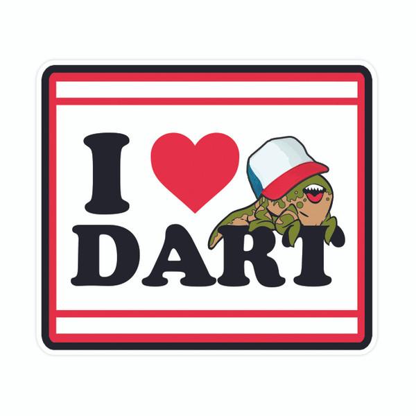 I Love Dart Fridge Magnet