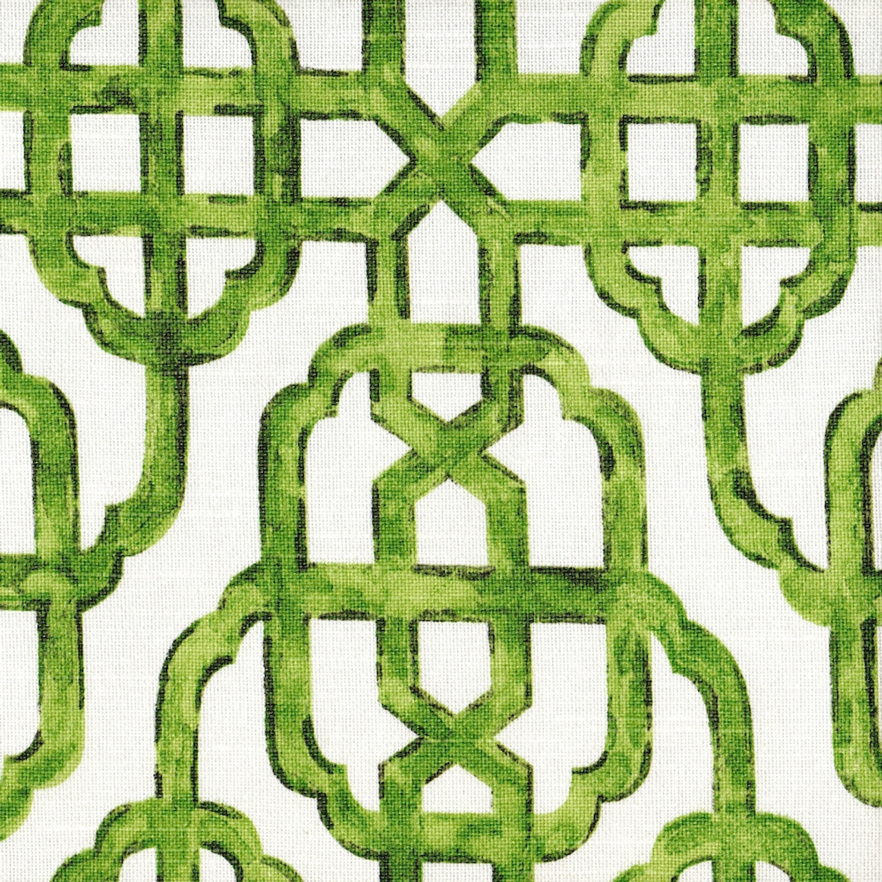 Shower Curtain In Imperial Jade Green Lattice