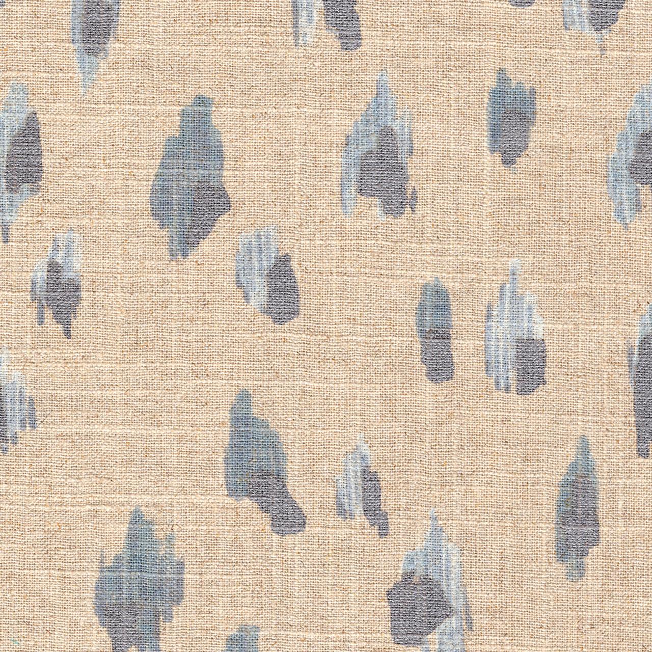 Asher Swedish Blue Metallic Shower Curtain