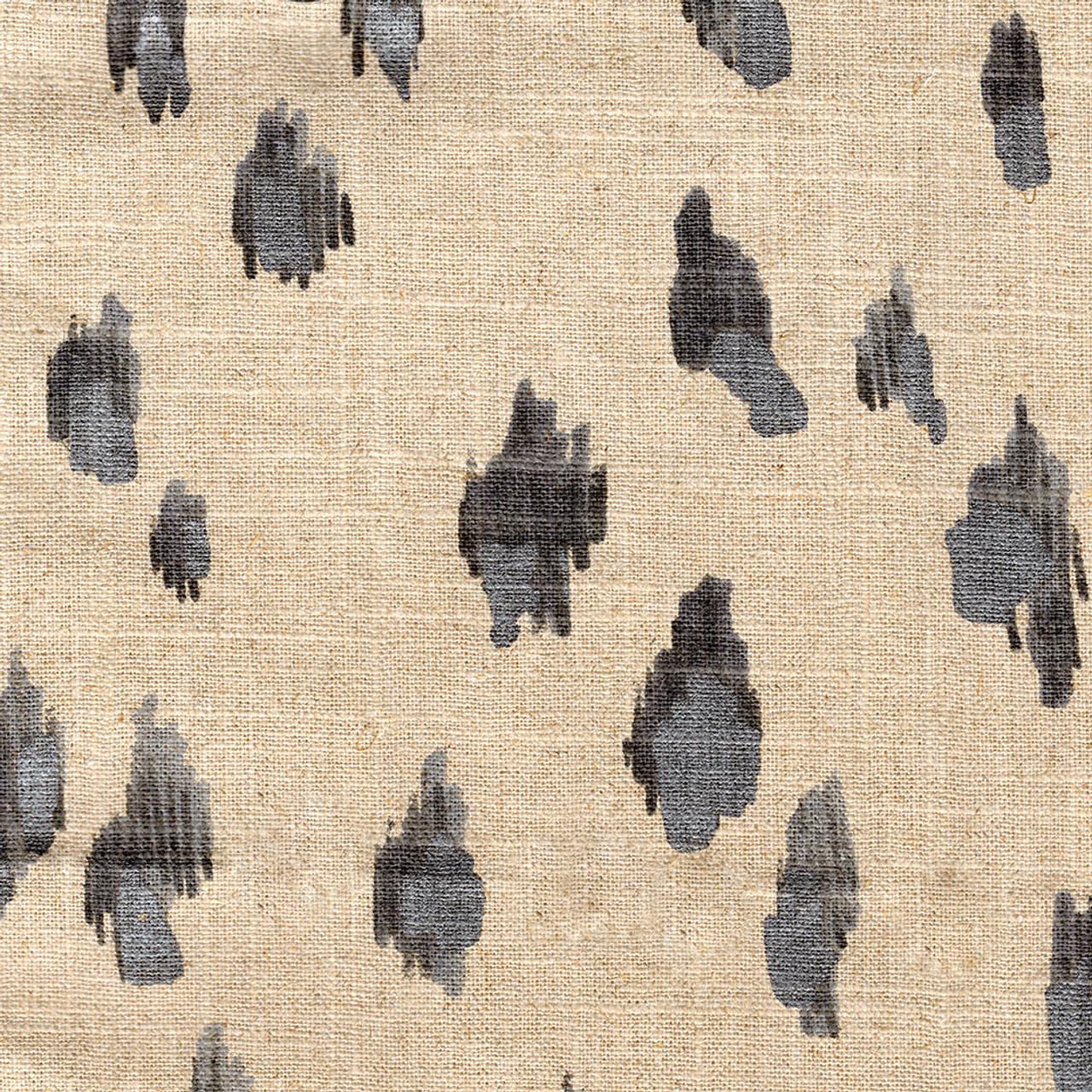 Asher Granite Gray Silver Metallic Animal Print Shower Curtain