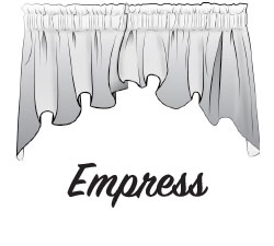 Emress Swag Valance Sketch