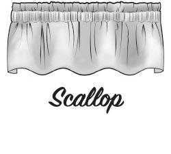 Scallop Valance Sketch