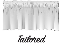 Tailored Valance Sketch