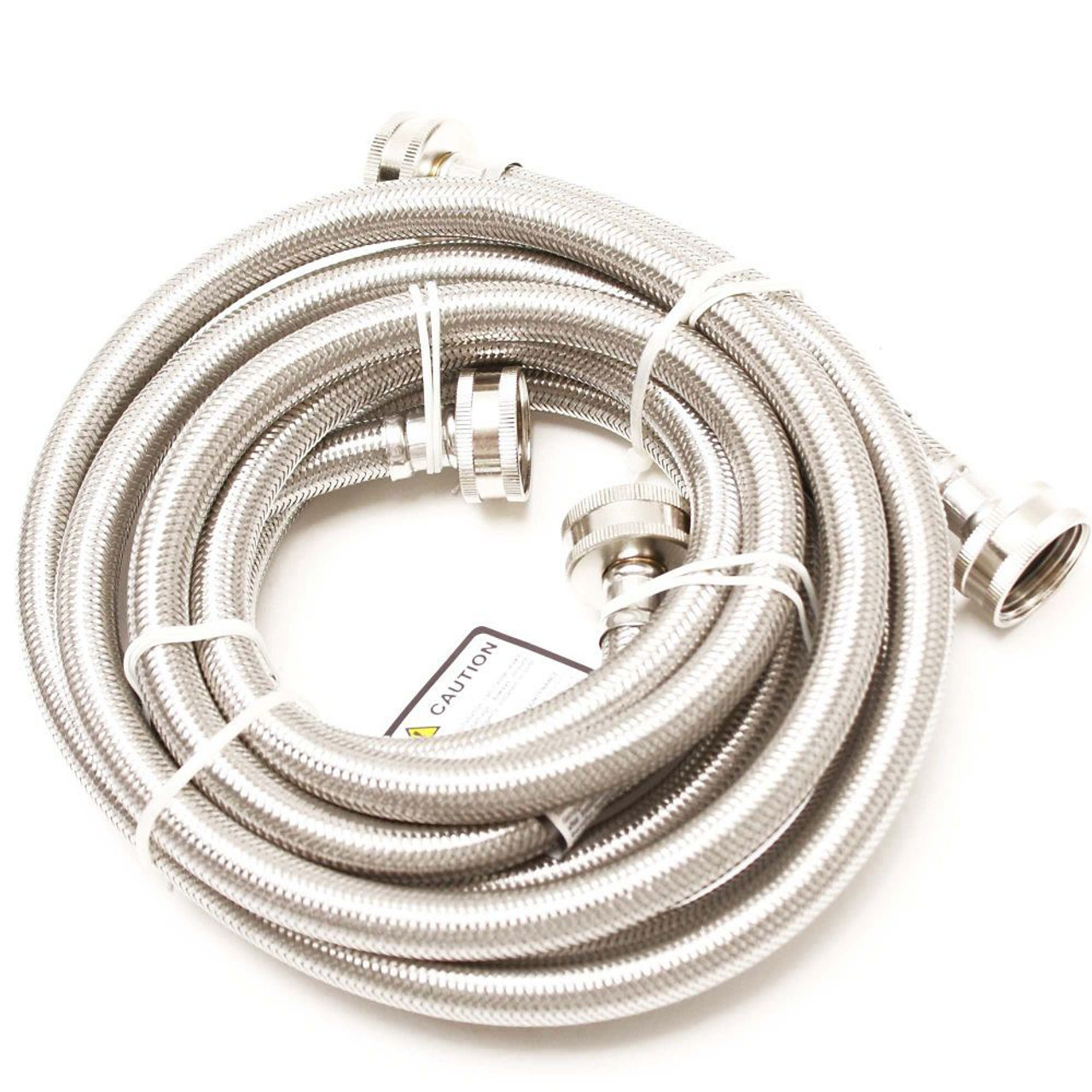 2505FFSS Washer Inlet Hose Stainless Steel 5 ft 2 pack