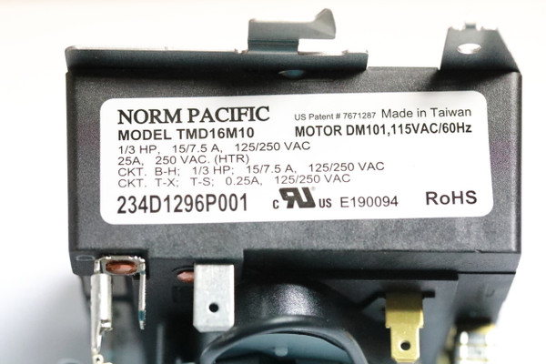 Norm Pacific Tmd16m10 234d1296p001 Dryer Timer