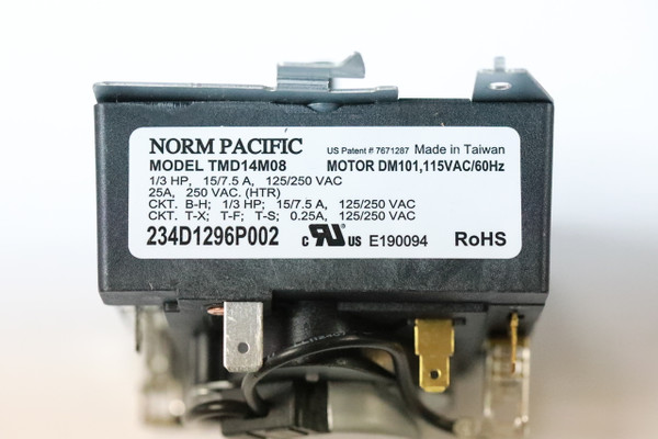 Norm Pacific Tmd14m08 234d1296p002 Dryer Timer