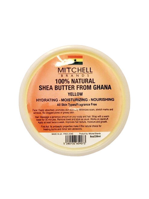 Mitchell Brands 100% Natural Shea Butter From Ghana, Yellow