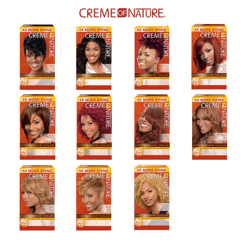 Creme of Nature Exotic Shine Permanent Hair Color Kit With Argan Oil