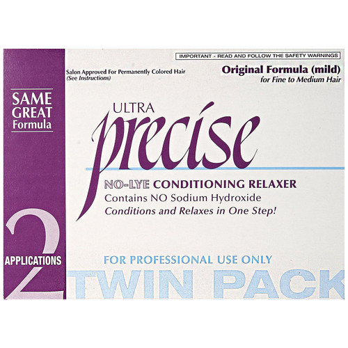 Precise No-Lye Conditioning Relaxer Twin Pack Original Formula(Mild)