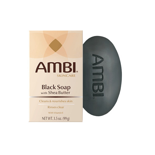 Black Soap Bar with Shea Butter