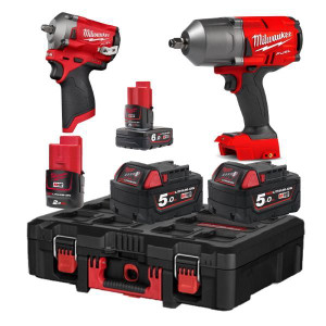 Milwaukee M18/M12 Impact Wrench Twin Pack