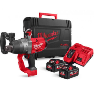 "MILWAUKEE 1"" IMPACT WRENCH 18 VOLT HIGH-TORQUE , 2 X 8.0AH BATTERIES"