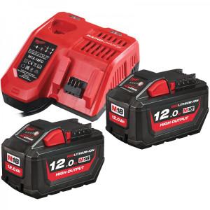 Milwaukee M18HNRG-122 18v Li-ion 12.0Ah High Output Battery Twin pack