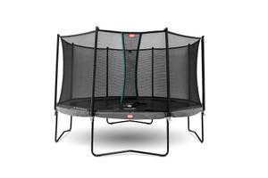 BERG Champion Regular 380 12.5ft Trampoline Grey With Safety Net Comfort