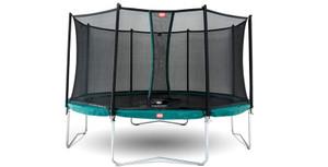 Berg Favorit 430cm Green + Safety Net Comfort Trampoline (14ft)