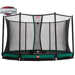 BERG InGround Champion 380 12.5ft Trampoline+ Safety Net Comfort Green