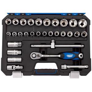 Draper Expert 16452 1-2 inch Sq. Dr. Metric Socket Set (30 Piece)