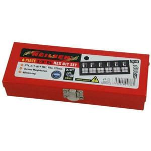 6 piece 3/4 Drive Hex Allen Bit Socket Set 14mm to 23mm