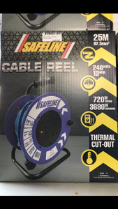Safeline Blue Artic Cable Reel With 13 Amp Plug - 25Metre