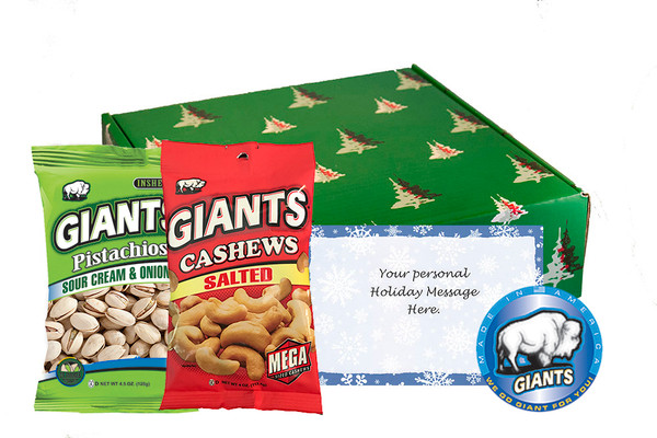 Holiday Variety Pack 16 Bags (Pistachios, Cashews)