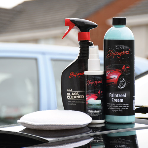 Paintseal Cream + Glass Cleaner + Rain Away