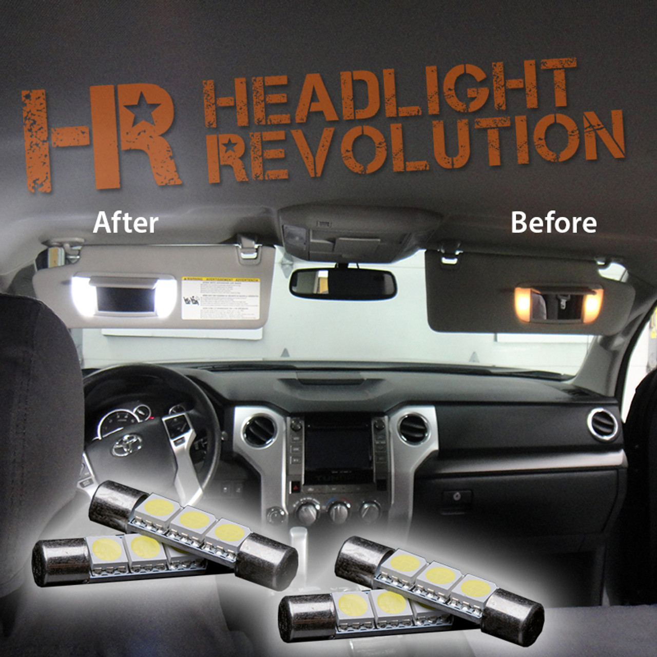 2007   2019 Toyota Tundra LED Vanity Light Bulbs Upgrade