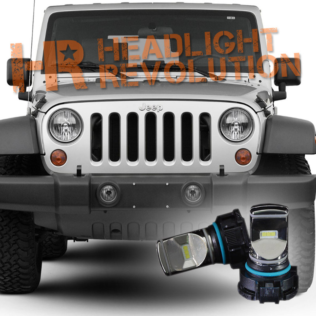 Jeep Wrangler Fog Lights >> 2007 2017 Jeep Wrangler Jk Led Fog Light Bulb Upgrade Level 1